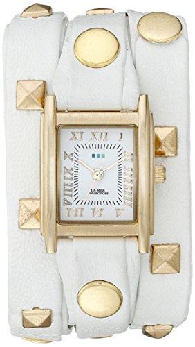 ラメールコレクションズ 腕時計 レディース LMLW1010E La Mer Collections Women's LMLW1010E White Gold Pyramid Analog Display Quartz White Watchラメールコレクションズ 腕時計 レディース LMLW1010E
