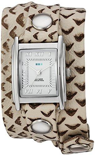 ラメールコレクションズ 腕時計 レディース LMSTW7003 La Mer Collections Women's LMSTW7003 Stainless Steel Watch with Metallic-Patterned Wraparound Bandラメールコレクションズ 腕時計 レディース LMSTW7003