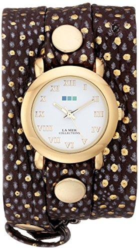 ラメールコレクションズ 腕時計 レディース LMSTWEXL001 La Mer Collections Women's LMSTWEXL001 Golden Polka Dots Simple Analog Display Quartz Brown Watchラメールコレクションズ 腕時計 レディース LMSTWEXL001
