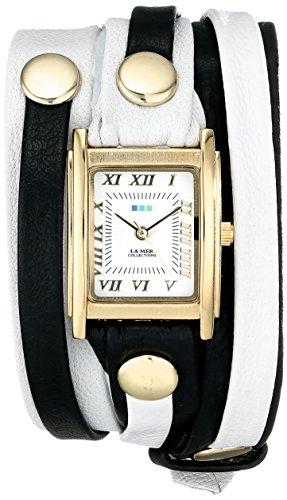 ラメールコレクションズ 腕時計 レディース LMLWMIX002 【送料無料】La Mer Collections Women's LMLWMIX002 White Black Mix Layer Bracelet Wrap Watchラメールコレクションズ 腕時計 レディース LMLWMIX002