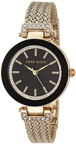 腕時計 アンクライン レディース AK/1906BKGB 【送料無料】Anne Klein Women's Swarovski Crystal-Accented Watch with Gold-Tone Mesh Bracelet腕時計 アンクライン レディース AK/1906BKGB