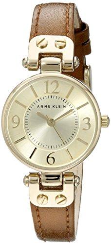 アンクライン 腕時計 レディース 10/9442CHHY 【送料無料】Anne Klein Women's 109442CHHY Gold-Tone Champagne Dial and Brown Leather Strap Watchアンクライン 腕時計 レディース 10/9442CHHY
