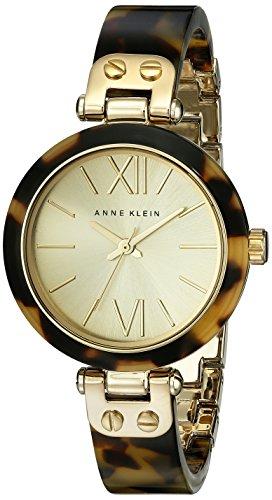 アンクライン 腕時計 レディース 10/9652CHTO Anne Klein Women's 10/9652CHTO Gold-Tone Tortoise Resin Bracelet Watchアンクライン 腕時計 レディース 10/9652CHTO