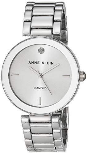 腕時計 アンクライン レディース AK/1363SVSV 【送料無料】Anne Klein Women's AK/1363SVSV Diamond Dial Silver-Tone Bracelet Watch腕時計 アンクライン レディース AK/1363SVSV