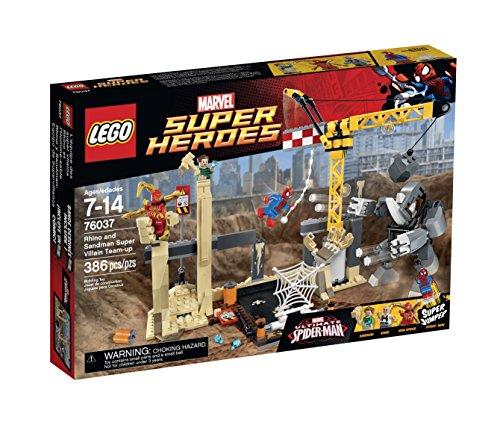 レゴ スーパーヒーローズ マーベル DCコミックス スーパーヒーローガールズ 6100906 【送料無料】LEGO Super Heroes 76037 Rhino and Sandman Super Villain Team-Up Building Kレゴ スーパーヒーローズ マーベル DCコミックス スーパーヒーローガールズ 6100906