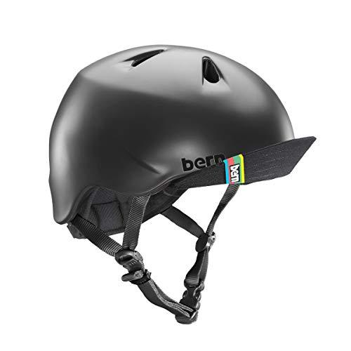 ヘルメット スケボー スケートボード 海外モデル 直輸入 VJBMBKV Bern - Kid's Nino Helmet, Matte Black w/Flip Visor, S/Mヘルメット スケボー スケートボード 海外モデル 直輸入 VJBMBKV