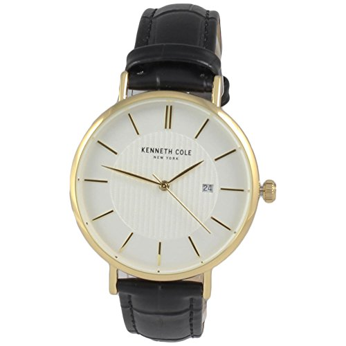 腕時計 ケネスコール・ニューヨーク Kenneth Cole New York メンズ 【送料無料】Kenneth Cole New York Men's Gold-Tone Steel Watch Black Leather Strap KC50037006腕時計 ケネスコール・ニューヨーク Kenneth Cole New York メンズ