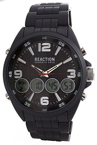 腕時計 ケネスコール・ニューヨーク Kenneth Cole New York メンズ 【送料無料】Kenneth Cole Reaction Men's Black Dial Steel Bracelet Digital Analog Watch 10030985腕時計 ケネスコール・ニューヨーク Kenneth Cole New York メンズ