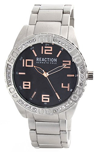 ケネスコール・ニューヨーク Kenneth Cole New York 腕時計 メンズ 【送料無料】Kenneth Cole Reaction Unisex Black Dial Silver Tone Bracelet Digital Analog Watch 10031250ケネスコール・ニューヨーク Kenneth Cole New York 腕時計 メンズ