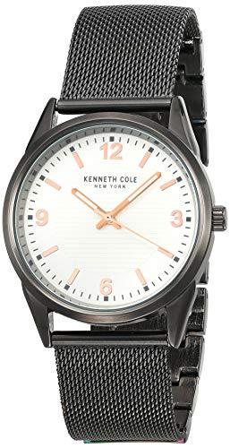 腕時計 ケネスコール・ニューヨーク Kenneth Cole New York メンズ 【送料無料】Kenneth Cole Mens Classic Quartz Black Band Silver Dial腕時計 ケネスコール・ニューヨーク Kenneth Cole New York メンズ