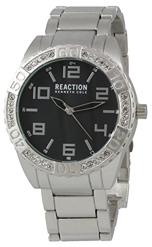 ケネスコール・ニューヨーク Kenneth Cole New York 腕時計 メンズ 【送料無料】Kenneth Cole Reaction Analog Men's Round Watch with Crystals Silver-Tone Strap 10031249ケネスコール・ニューヨーク Kenneth Cole New York 腕時計 メンズ