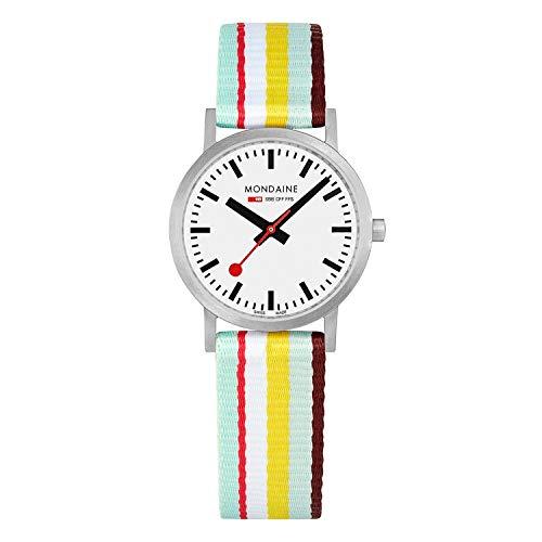 モンディーン 北欧 スイス 腕時計 レディース 【送料無料】Mondaine Classic Multicolour Textile Strap White Dial Quartz Men's Watch A658.30323.16SBK 30mm - Mens Watchesモンディーン 北欧 スイス 腕時計 レディース