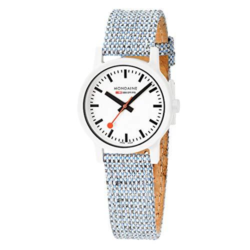 モンディーン 北欧 スイス 腕時計 レディース Mondaine Essence White Dial Blue Cork Strap Quartz Ladies Watch MS1.32110.LD Ladies Watches Ladies Watchesモンディーン 北欧 スイス 腕時計 レディース