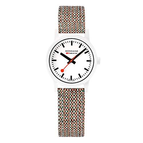 モンディーン 北欧 スイス 腕時計 レディース 【送料無料】Mondaine Essence White Dial Brown Cork Strap Quartz Men's Watch MS1.32110.LG Mens Watches Mens Watchesモンディーン 北欧 スイス 腕時計 レディース