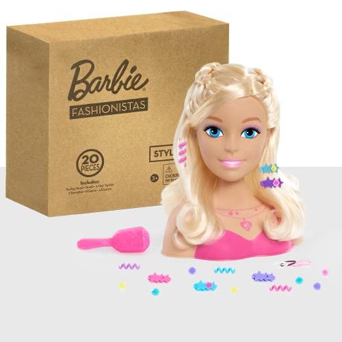 バービー バービー人形 日本未発売 Barbie Small Styling Head- Blonde, Medium, ピンクバービー バービー人形 日本未発売