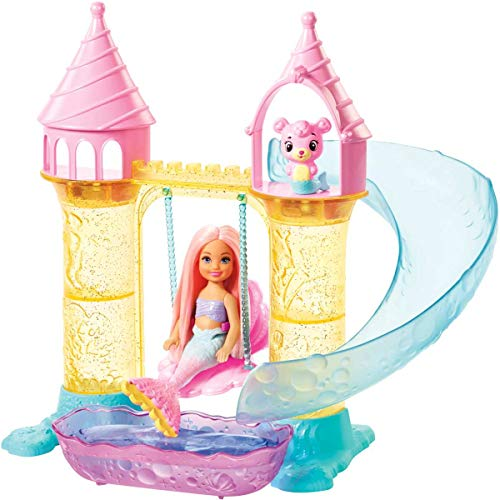 バービー バービー人形 日本未発売 【送料無料】Barbie Dreamtopia Mermaid Playground Playset, with Chelsea Mermaid Doll, Merbear Friend Figure and Sand Castle Set with Swing, Slide, Pool and Tea Party, Gift for 3 tバービー バービー人形 日本未発売