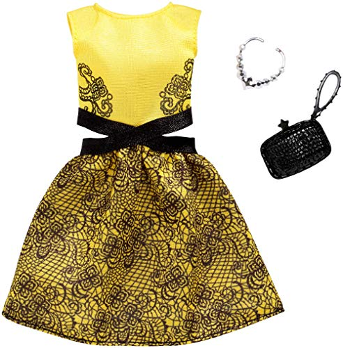バービー バービー人形 日本未発売 Barbie Complete Looks Yellow and Black Dress Fashion Packバービー バービー人形 日本未発売