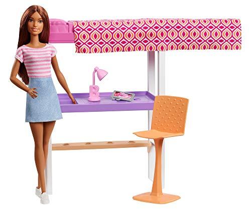 バービー バービー人形 日本未発売 Barbie Doll & Furniture Set, Loft Bed with Transforming Bunk Bedsバービー バービー人形 日本未発売