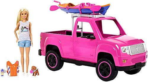 バービー バービー人形 【送料無料】Barbie Camping Fun Doll, Pink Truck and Sea Kayak Adventure Playsetバービー バービー人形
