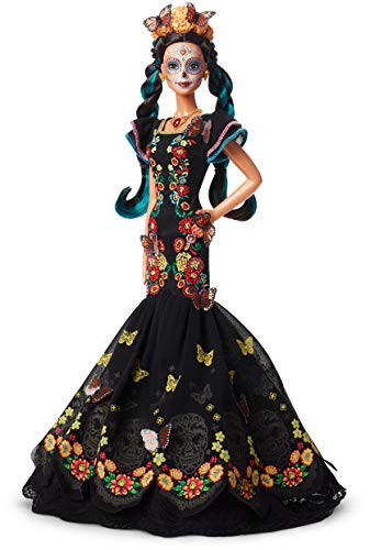 バービー バービー人形 日本未発売 【送料無料】?Barbie Collector: Dia De Muertos Doll, 11.5-Inch, Brunette, Wearing Embroidered Dress, Flower Crown & Skull Makeup with Doll Stand and Certificate of Authenticityバービー バービー人形 日本未発売