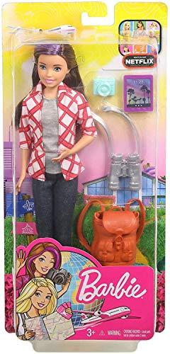 バービー バービー人形 日本未発売 Barbie Travel Skipper Doll, Brunette with Purple Streak, with 4 Accessoriesバービー バービー人形 日本未発売
