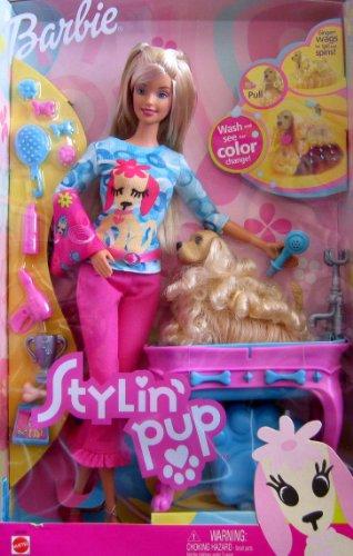 バービー バービー人形 日本未発売 Stylin' Pup BARBIE Doll w Color Change Pup (Ginger), Bath & More (2002)バービー バービー人形 日本未発売