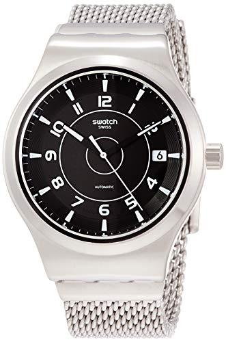 スウォッチ 腕時計 メンズ 【送料無料】Swatch Men's Automatic Watch with Stainless Steel Strap, Silver, 20 (Model: YIS418MA)スウォッチ 腕時計 メンズ
