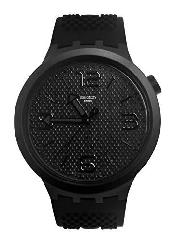 スウォッチ 腕時計 メンズ 【送料無料】Swatch Men's Quartz Watch with Silicone Strap, Black, 23 (Model: SO27B100)スウォッチ 腕時計 メンズ