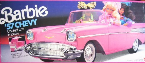 バービー バービー人形 【送料無料】Barbie 57 Chevy Convertible Vehicle (PINK) Coolest Car in Town! (1990) by Barbieバービー バービー人形