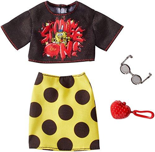 バービー バービー人形 日本未発売 Barbie SpongeBob Black Top and Yellow Polka Dot Skirt Fashion Packバービー バービー人形 日本未発売