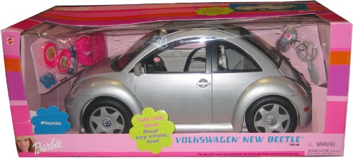 バービー バービー人形 【送料無料】Barbie SILVER VW Beetle Car - Volkswagen New Beetle Vehicle Play Setバービー バービー人形