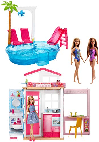 バービー バービー人形 日本未発売 【送料無料】BARBIE 2-Story House W/ 3 Dolls Fully FURNISHED FXN66バービー バービー人形 日本未発売
