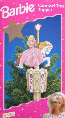バービー バービー人形 日本未発売 【送料無料】Barbie Carousel Tree Topper - Star Lights Up & Barbie Rides Horse Up, Down & Around! (1997 Mr. Christmas)バービー バービー人形 日本未発売