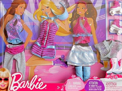 バービー バービー人形 日本未発売 【送料無料】BARBIE FASHIONS w Shimmery ROLLER SKATING & DANCE CLOTHES, Roller SKATES & More (2009 Mattel Canada)バービー バービー人形 日本未発売