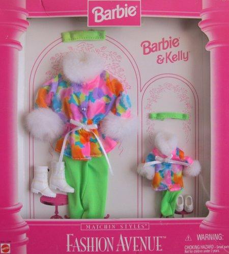 バービー バービー人形 日本未発売 【送料無料】Barbie & Kelly Fashion Avenue MATCHIN' STYLES WINTER Clothes w Faux Fur FASHION AVENUE Collection (1996)バービー バービー人形 日本未発売
