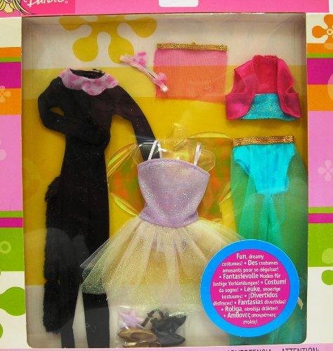 バービー バービー人形 日本未発売 【送料無料】Barbie Fashions Fun Dreamy Costumes! - Panther, Fairy & Genie (2003)バービー バービー人形 日本未発売