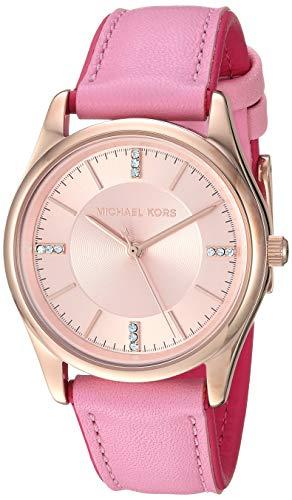 マイケルコース 腕時計 レディース 母の日特集 マイケル・コース 【送料無料】Michael Kors Women's Colette Stainless Steel Quartz Watch with Leather Strap, Pink, 18 (Model: MK2817)マイケルコース 腕時計 レディース 母の日特集 マイケル・コース