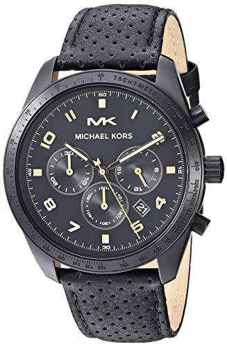 マイケルコース 腕時計 メンズ マイケル・コース アメリカ直輸入 【送料無料】Michael Kors Men's Keaton Stainless Steel Quartz Watch with Leather Strap, Black, 22 (Model: MK8705)マイケルコース 腕時計 メンズ マイケル・コース アメリカ直輸入