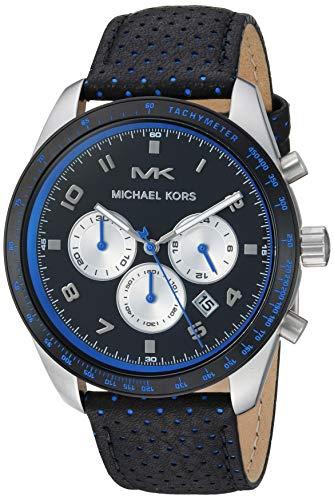 マイケルコース 腕時計 メンズ マイケル・コース アメリカ直輸入 【送料無料】Michael Kors Men's Keaton Stainless Steel Quartz Watch with Leather Strap, Multi, 22 (Model: MK8706)マイケルコース 腕時計 メンズ マイケル・コース アメリカ直輸入