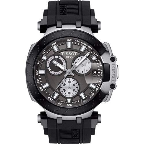 腕時計 ティソ メンズ 【送料無料】Tissot Men's T-Race Chrono Quartz 316L Stainless Steel case with Black PVD Coating Swiss Silicone Strap, 22 Casual Watch (Model: T1154172706100)腕時計 ティソ メンズ:angelica
