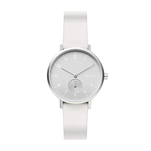 スカーゲン 腕時計 メンズ 【送料無料】Skagen Men's Aaren Kulor Quartz Silicone Watch, Color: White, 36(Model: SKW2763)スカーゲン 腕時計 メンズ