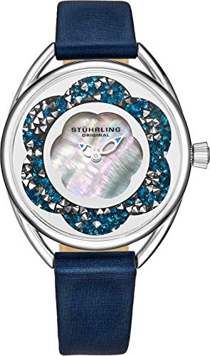 ストゥーリングオリジナル 腕時計 レディース 【送料無料】Stuhrling Original Womens Watches with Mother of Pearl Dial with Crystal Flower Ring - Analog Dress Watch 995 Lily Wrist Watches for Women - Ladieストゥーリングオリジナル 腕時計 レディース