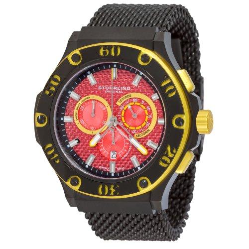 ストゥーリングオリジナル 腕時計 レディース 【送料無料】Stuhrling Original Men's 292.335991 Iconoclast Swiss Quartz Chronograph Red Dial Mesh Watchストゥーリングオリジナル 腕時計 レディース