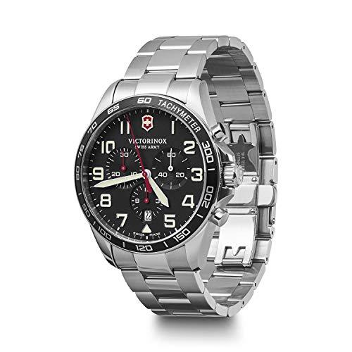 ビクトリノックス スイス 腕時計 メンズ 【送料無料】Victorinox Fieldforce Chronograph Quartz Black Dial Men's Watch 241855ビクトリノックス スイス 腕時計 メンズ