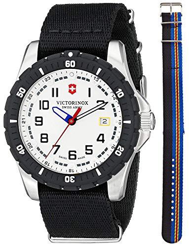 ビクトリノックス スイス 腕時計 メンズ 【送料無料】Victorinox Swiss Army Maverick Steel 241676.1 Mens Watch White Dial Nylon NATO Strapビクトリノックス スイス 腕時計 メンズ