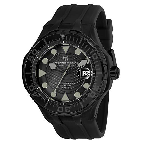 テクノマリーン 腕時計 メンズ 【送料無料】Technomarine Grand Cruise Automatic Black Dial Men's Watch TM-118082テクノマリーン 腕時計 メンズ