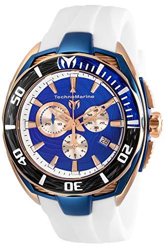 """テクノマリーン 腕時計 メンズ 【送料無料】Technomarine Men""""s Cruise California II Stainless Steel Quartz Watch with Silicone Strap, White, 25 (Model: TM-118048)テクノマリーン 腕時計 メンズ"""