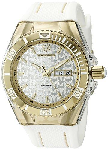 テクノマリーン 腕時計 メンズ 【送料無料】Technomarine Men's TM-115210 Cruise Monogram Analog Display Swiss Quartz White Watchテクノマリーン 腕時計 メンズ