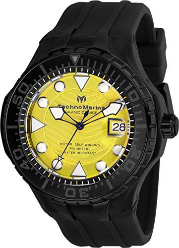 テクノマリーン 腕時計 メンズ 【送料無料】Technomarine TM-118084 Cruise Men's 48mm Automatic Black-Tone Steel Yellow Dialテクノマリーン 腕時計 メンズ