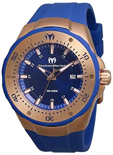 テクノマリーン 腕時計 メンズ Technomarine Men's Sea Manta Stainless Steel Quartz Watch with Silicone Strap, Blue, 30 (Model: TM-218021)テクノマリーン 腕時計 メンズ